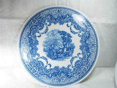 Vintage SPODE BLUE ROOM Collection Continental Views by omarstent, $21.95