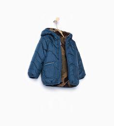 Imagem 1 de Blusão acolchoado lã de ovelha sintética camuflagem da Zara