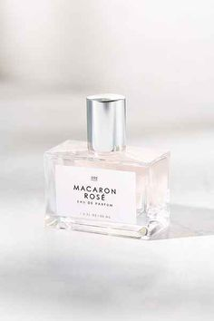 Macaron Rose perfume. Luxe with the likes of eau de rose, Turkish delight, and sugar cane.