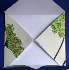 Learn how to make an envelope from a single sheet of paper! This is a quick and easy project - yet can be adapted in so many ways. Make envelopes for handmade cards or to store special keepsakes and mementos. You can use plain printer paper or try making the envelopes from scrapbooking paper for an almost instant finish.
