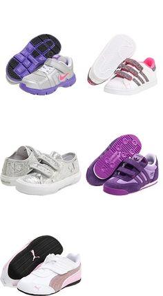 Dual Fusion ST 2 (Infant/Toddler) by Nike Kids, Superstar 2 Sparkles CMF (Toddler/Youth) by adidas Kids, SP.CVS.CLS.G7V SP12 (Infant/Toddler) by Primigi Kids, Dragon (Infant/Toddler) by adidas Kids, Delor Cat Bling V (Infant/Toddler/Youth) by Puma Kids