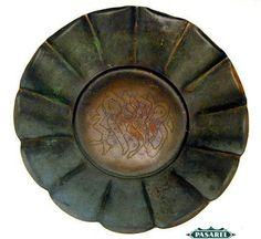 Pasarel - Rare Vintage Ludwig Wolpert For Baron Brass Decorative Bowl, Israel, 1950's $450.00