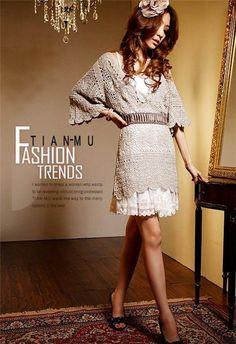 Mundial de la costura: túnica ganchillo asiática en estilo vintage | Producto