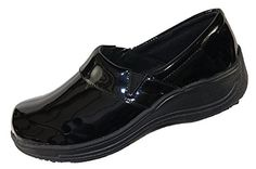 Laforst Rachel 7003 Womens Work Slip Resistant Slip on Clogs Black Patent 6 for sale online Nursing Shoes, Women's Mules, Comfortable Fashion, Work Casual, Leather Slip Ons, Clogs, Loafers, Selfie, Black