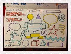 365 Creativity Facilitators: Doodle Alphabet: Forms & Spirals #39