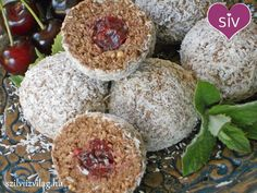 Choco ball with carrot and cherry Carrots, Grains, Vegan Recipes, Cherry, Muffin, Rice, Sweets, Breakfast, Foods
