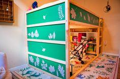 A Custom DIY IKEA Kura Bed with PANYL - Flax & Twine