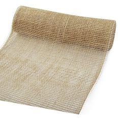 DECOJUTE table runner® - Tischläufer: 300mm breit / 3m-Rolle, natur.