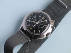 Vintage army issue Lemania monopusher chronograph, Cal. 2220.