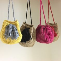 gemelli with Zpagetti ( Bag Crochet, Crochet Clutch, Crochet Handbags, Crochet Purses, Love Crochet, Crochet Stitches, Crochet Patterns, Crochet Bag Tutorials, Crochet Projects