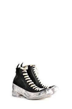 Andrew McDonald men's cordovan hollow wedge sneaker boots