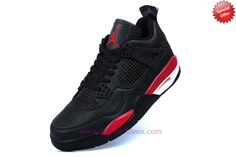 Authentic Black/Red Temporal Rift 316854-228 AIR JORDAN 4 RETRO Mens
