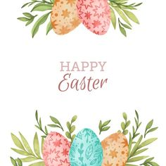 Easter Art, Hoppy Easter, Easter Crafts, Easter Bunny, Wreath Watercolor, Watercolor Cards, Watercolor Background, Ostern Wallpaper, Easter Paintings