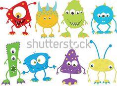 monstrinhos coloridos - Pesquisa Google