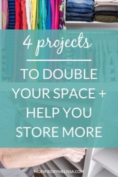 4 Projects to Help You Store More - Modified By Melissa Bar Shelves, Deep Shelves, Deep Closet, Soccer Practice, Under Sink, Cold Weather Outfits, Deep Space, Closet Bedroom, Wall Spaces