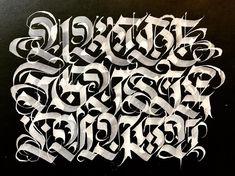 Graffiti Alphabet Fonts, Tattoo Fonts Alphabet, Graffiti Lettering Fonts, Chicano Lettering, Tattoo Lettering Fonts, Hand Lettering Styles, Creative Lettering, Calligraphy Alphabet, Lettering Design