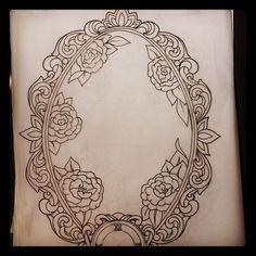 Framed tattoo, victorian frame tattoos и cameo tattoo. Victorian Frame Tattoos, Vintage Frame Tattoo, Vintage Frames, Tattoo Frame, Unique Tattoos, Cute Tattoos, Beautiful Tattoos, Body Art Tattoos, Clock Tattoos