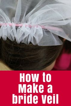 Use this simple bride veil tutorial to sew a dress-up for a little girl, or be inspired to create one for a real wedding!