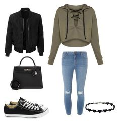 """""""Cold Winter Day"""" by marmarrod ❤ liked on Polyvore featuring Dorothy Perkins, Converse, LE3NO and Hermès"""