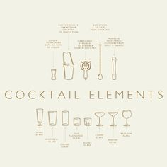 Introducing Cocktail Elements Vector & PNG by We Are Colt --- Cocktail Elements Vector & PNG - Illustrator and Photoshop compatible 13 carefully crafted Cocktail Book, Cocktail Menu, Cocktail Recipes, Menu Design, Food Design, Recipe Graphic, Whole30 Recipes Lunch, Bijou Box, Cocktail Illustration
