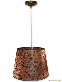LEMIR Lampa wisząca 1-punktowa - Abażur stożek - O1200/W1 K_15 - Multilampy.pl