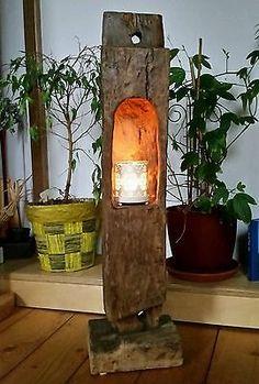 altholz eichenholz teelicht laterne windlicht skulptur stele holzs ule balken windlicht. Black Bedroom Furniture Sets. Home Design Ideas