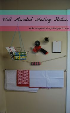 Gabriel's Good Tidings: Mailing Station in My Sewing Room