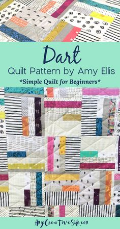 Dart is a recent finish in my space, and I'm sharing just how simple it is to make! Simple quilts are beautiful when made with love. Mentioned in the video: . Beginner Quilt Patterns, Quilting For Beginners, Quilting Tips, Quilting Tutorials, Quilting Projects, Quilting Patterns, Traditional Quilt Patterns, Modern Quilt Patterns, Kids Patterns
