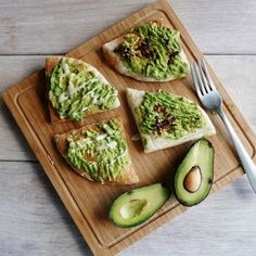 "themilkywhiteway: "" Avocado on pita bread with tahini and homemade chilli…"