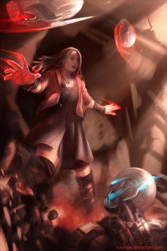 Scarlet Witch by Luxarian on DeviantArt Wanda Avengers, Wanda Marvel, Avengers Age, Olsen Scarlet Witch, Scarlet Witch Marvel, Marvel Comics, Marvel Dc, Elizabeth Olsen, X Men