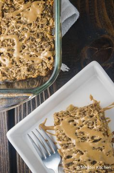 Healthy Banana Peanut Butter Oat Bars for just 259 calories and 6 PointsPlus