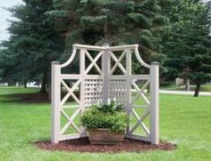 Side Entryway   Will Hide The Air Conditioner! Cedar Corner Garden Screen  Kit · Privacy TrellisPrivacy ...