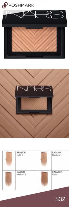 NWT NARS Sun Wash Diffusing Bronzer- Seaside Brand new and in box. NARS sun wash diffusing bronzer. the color is seaside. These colors are great for a more subtle look, compared to the originals.   Check out my page for more NARS and other name brand makeup! NARS Makeup Bronzer