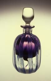 A10026 Perfume bottle with stopper, glass, made by Julio Santos, Newcastle, New South Wales, Australia, 1984 - Powerhouse Museum Collection