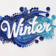 Frosty blue winter ❄️ by @igamination #papercut #illustration #paperart #quilling #quillingart