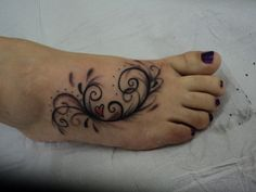 Foot tattoo, butterfly instead of heart