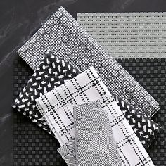 set of 4 etch block print napkins in table linens | CB2