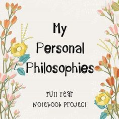 Instant download! Entire year project, end of year, creative writing, philosophy, psychology, English, notebook, journal, high school, time capsule, memory book.This is a great Friday journal project to work on throughout the entire year! It's relaxed, but guided. This unit has been created with over 50 different personal philosophy topics.