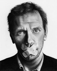 Hugh Laurie Pencil drawing