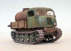 German Steyr RSO/01 type 470, 1/35 scale. By Eugene Tur aka Balzac. #scale_model #WW2