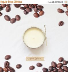 ON SALE Fresh Coffee - Soy Candle - Small Tin