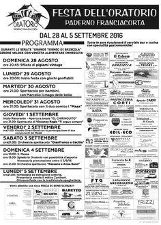 Festa dell'Oratorio di Paderno Franciacorta http://www.panesalamina.com/2016/50264-festa-delloratorio-di-paderno-franciacorta.html