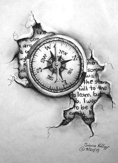 28 Ideas For Travel Drawing Compass Tattoo Designs Compass Drawing, Compass Tattoo Design, Vintage Compass Tattoo, Clock Tattoo Design, Clock Drawings, Tattoo Drawings, Sketch Tattoo, Trendy Tattoos, Cool Tattoos