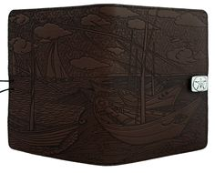 Leather iPad Mini Cover Case | Van Gogh Boats | Oberon Design
