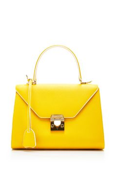 Hadley Medium In Buttercup by Mark Cross for Preorder on Moda Operandi