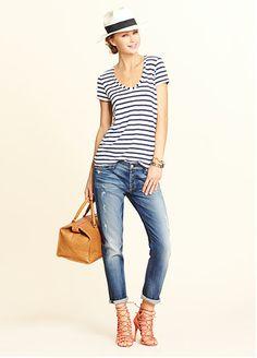 Ankle-Length Denim - 7 For All Mankind Jeans Josefina Destroy in Super Grinded Blue