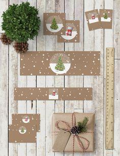 Colección de imprimibles Bolas de Nieve para navidad