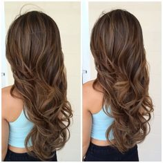 Yup! Fell in love w/ her hair color.. Layers and curls are pretty! I think I found my next hair color cut.                                                                                                                                                      More