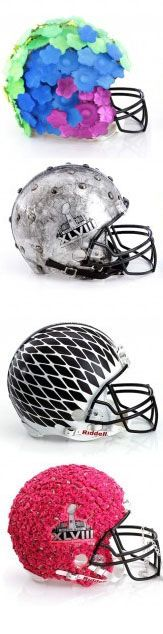 "Bloomingdale's ""Fashion Touchdown"" helmets."