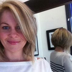 Super cute hair, like the front and the back! Candace Cameron Bure
